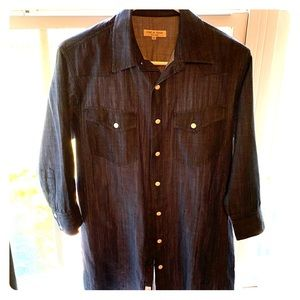 Rag & Bone dark wash chambray shirt